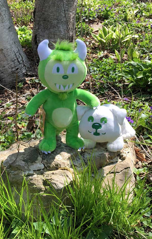 Plush Set : Happy the Hodag + Buddy the Bulldog