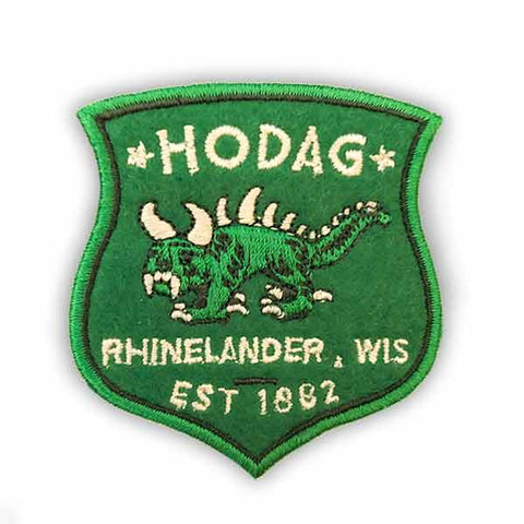 Rhinelander Hodag Patch : Easy Iron-On Backing