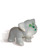 "The Buddy the Bulldog premium plush toy is 6"" tall and 8"" long. Buddy has a fully embroidered green eyes, nose and mouth, soft white fur and is self-standing.  Side view."