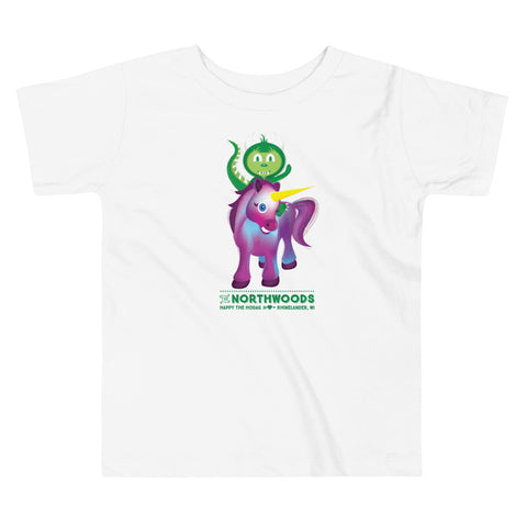 Toddler Hodag T-shirt : Hodag Riding a Unicorn Design