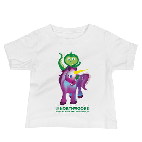 Baby Hodag T-shirt : Hodag Riding a Unicorn Design