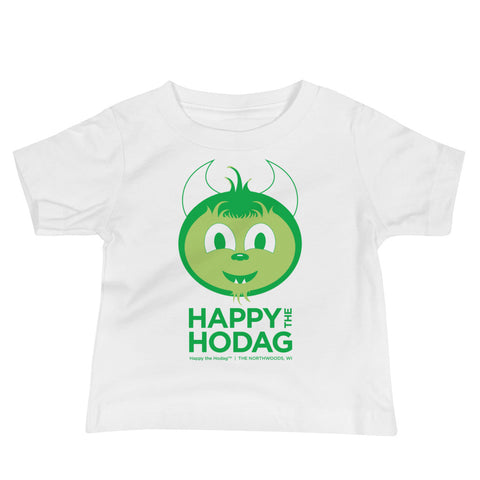 A baby Hodag smiling with the text Happy The Hodag