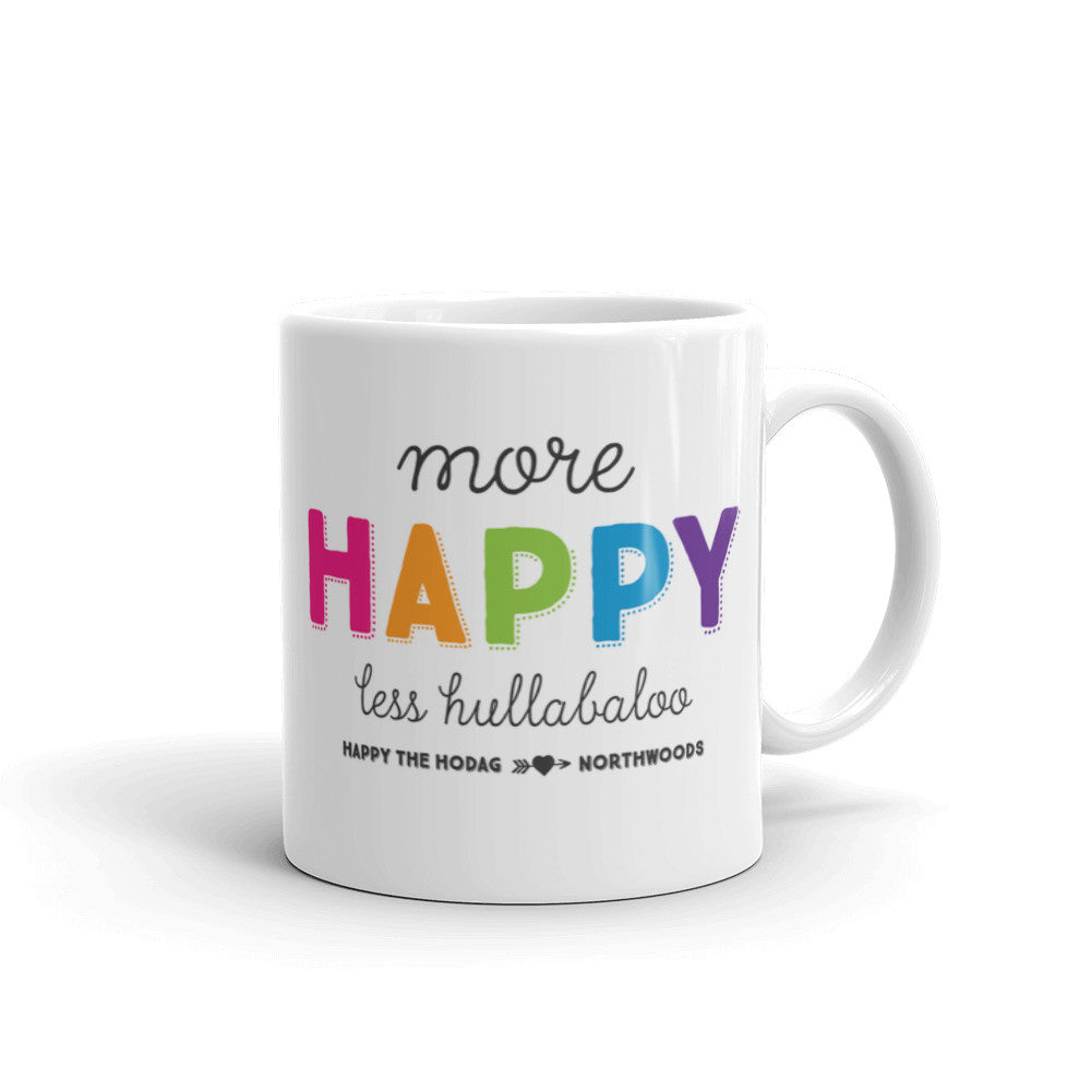 more happy less hullabaloo Happy the Hodag coffee mug
