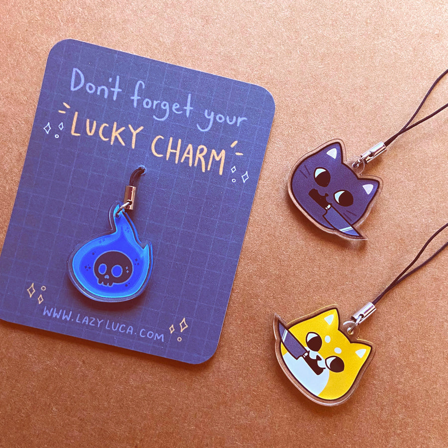 Cute Acrylic Charm Mobile Keyrings