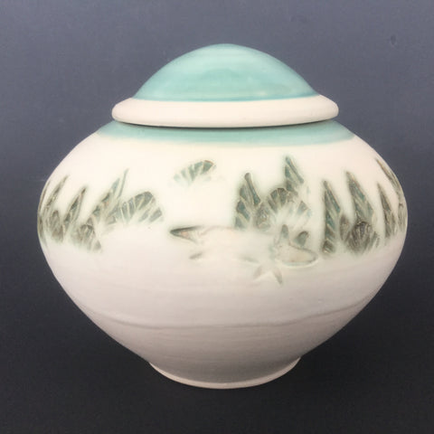 Small Covered Jar/ Urn