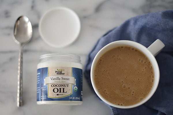A great way to liven up your coffee with our Gourmet Vanilla Sweet Coconut Oil