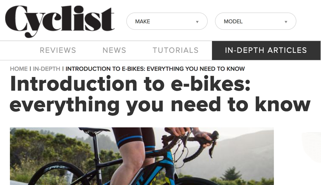 Respected Cyclist Magazine extolls electric bike virtues