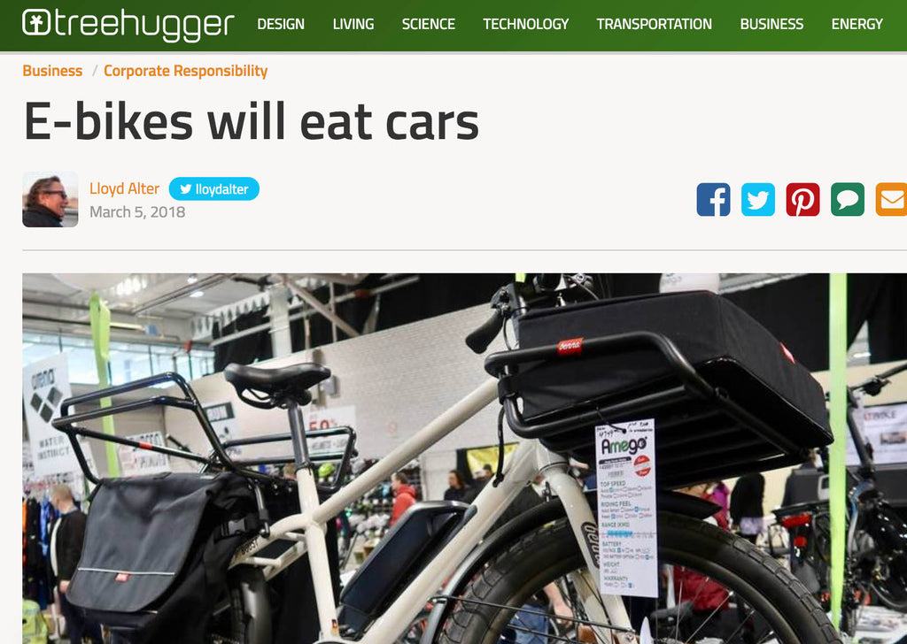 E-bikes will eat cars
