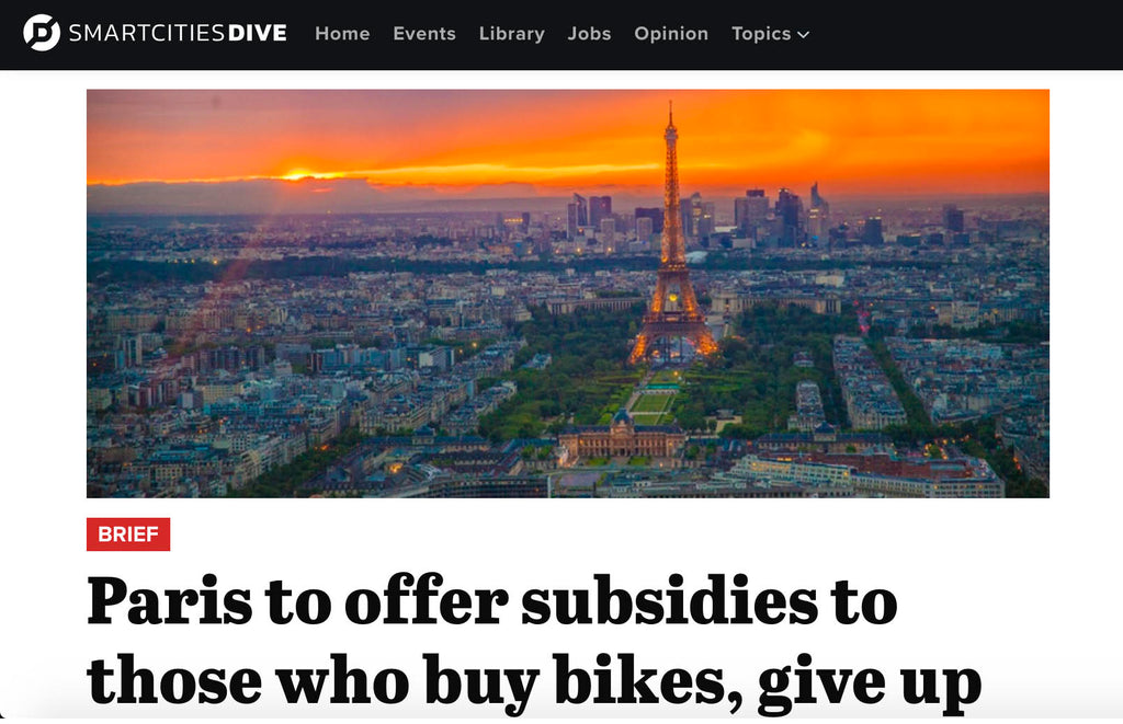 Paris to offer subsidies to those who buy bikes, give up cars