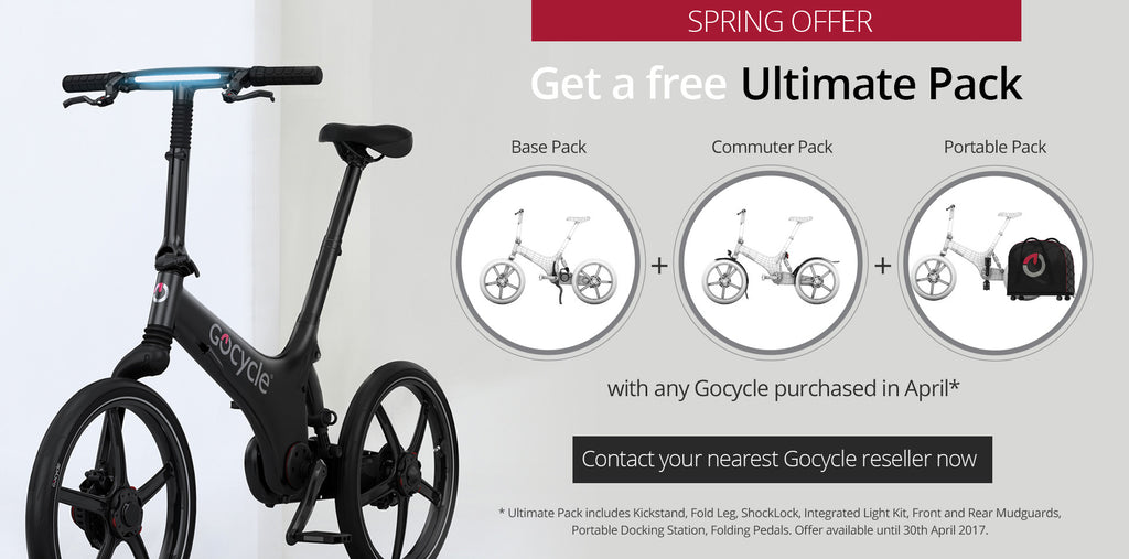 Amazing April offer on electric Gocycle G3 bike