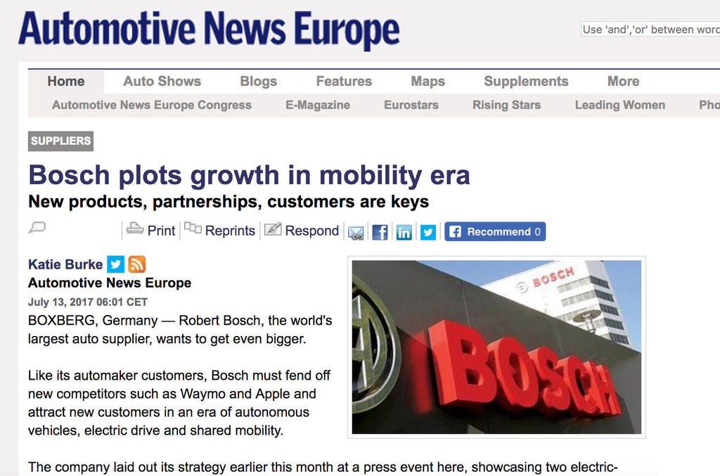 Bosch looks to expand electric-based empire