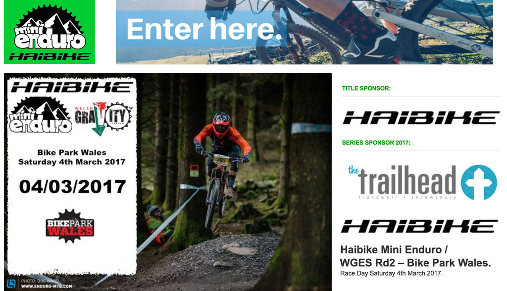 Top electric bike company Haibike UK sponsor the Mini Enduro series