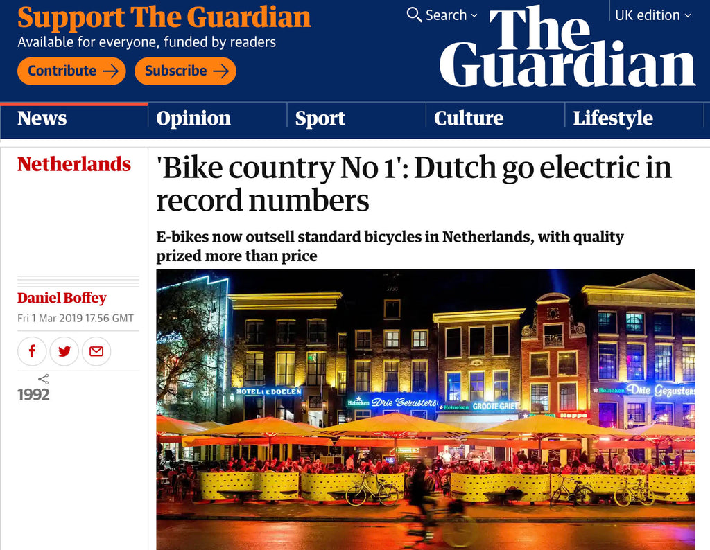 Electric bikes now outsell standard bicycles in Holland