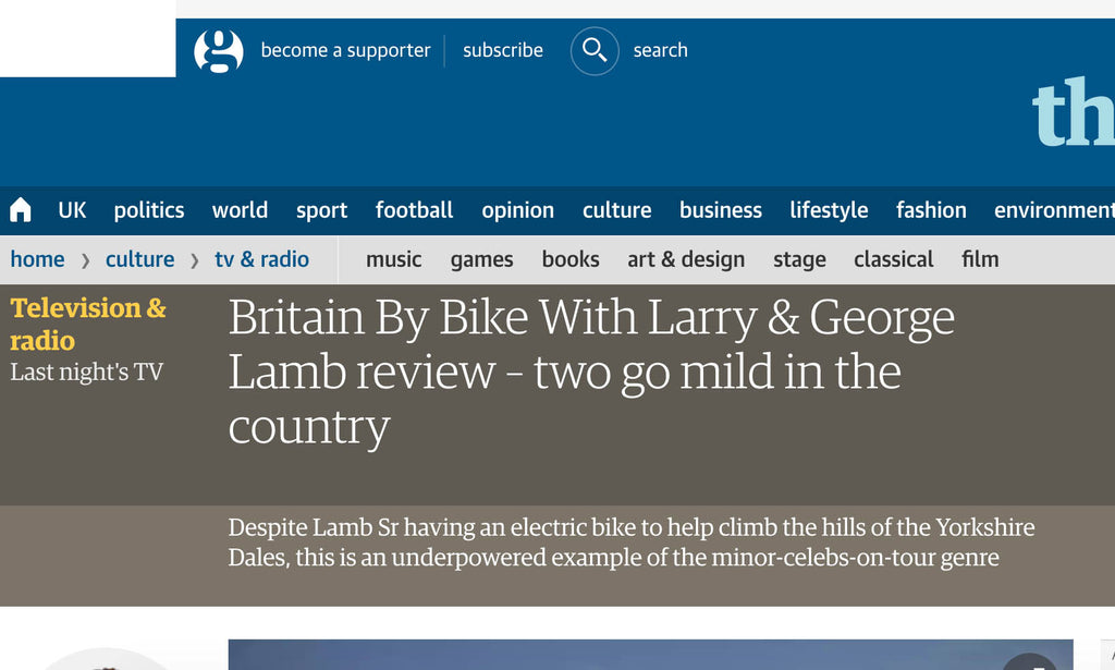 Britain By Bike With Larry & George Lamb review – two go mild in the country