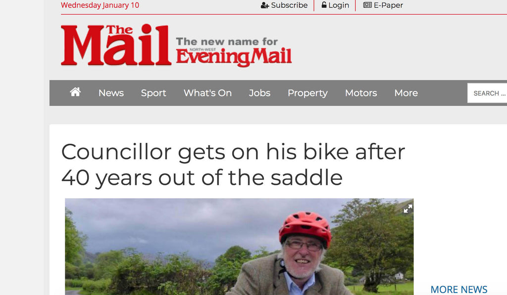 Councillor gets on his bike after 40 years out of the saddle