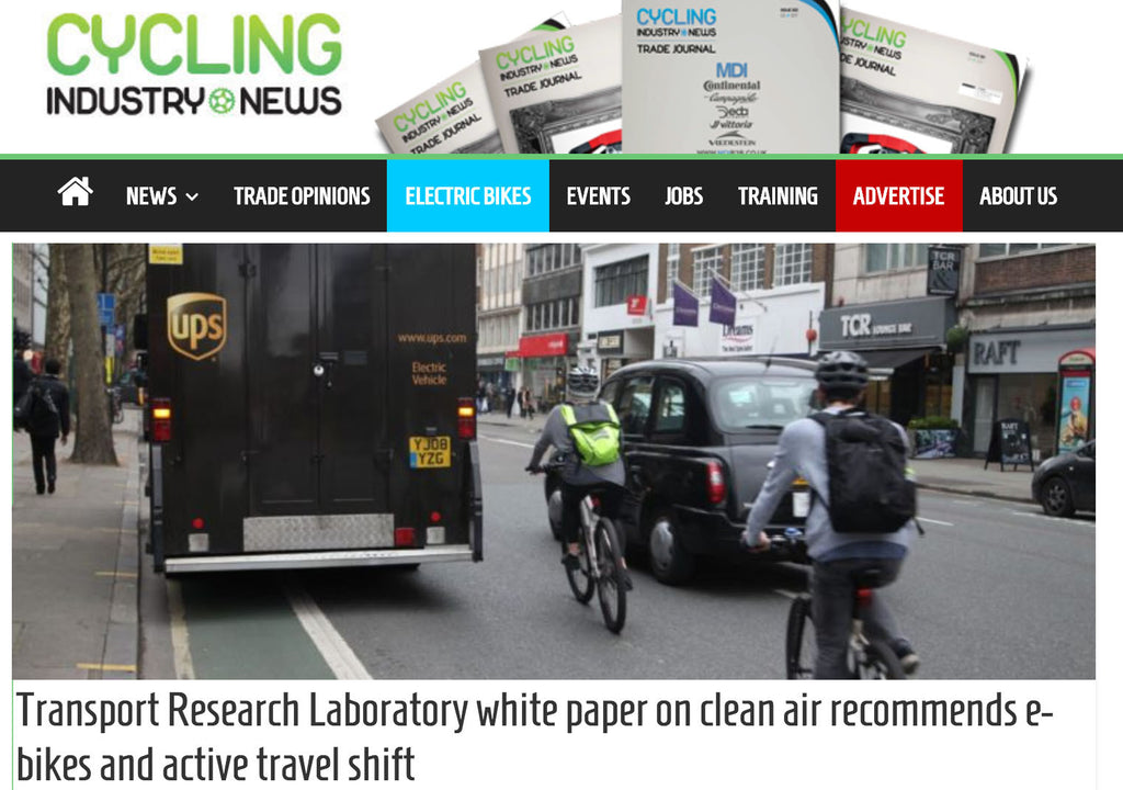 Transport Research Laboratory white paper recommends electric bikes