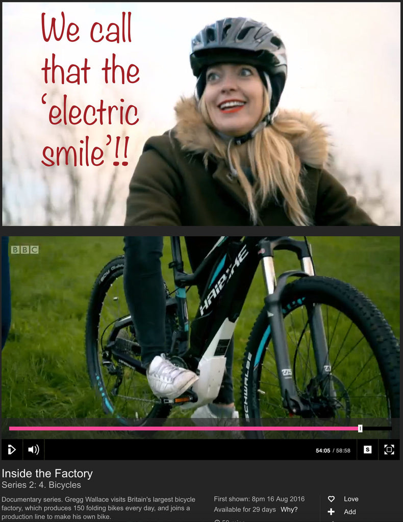 Inside the Factory - BBC program highlights electric bikes