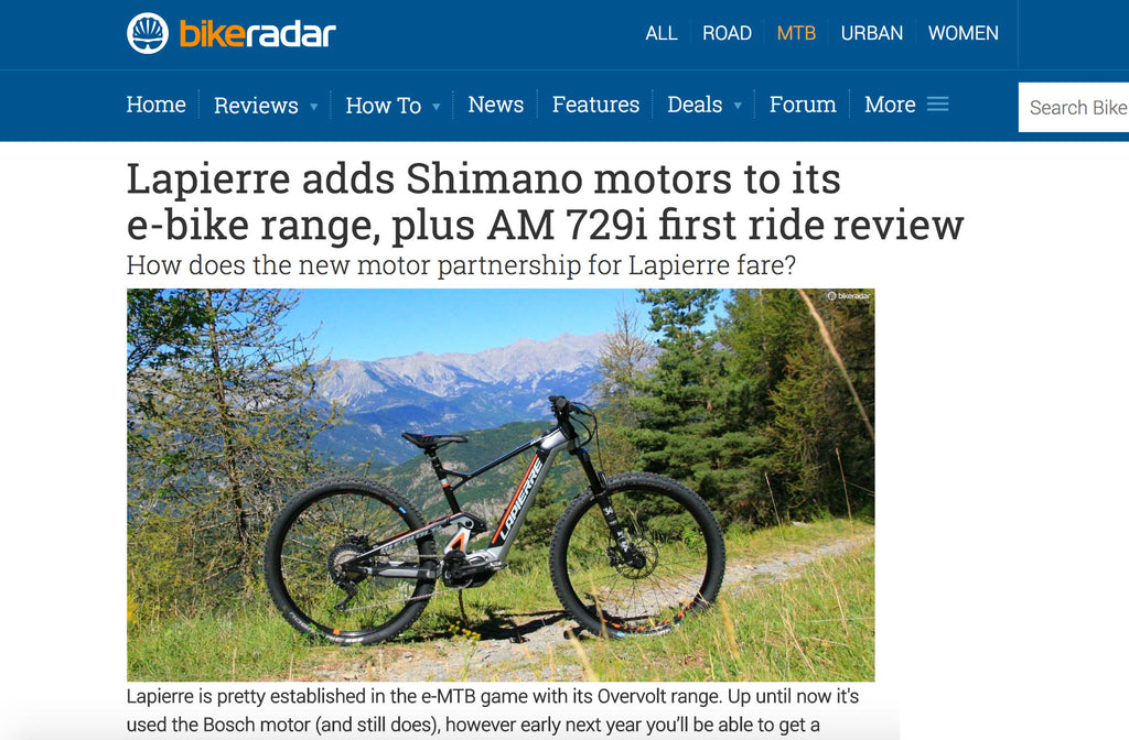Lapierre partners with Shimano on eMTB models