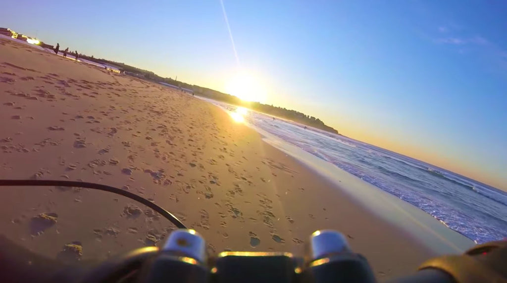 Electric Fatbike on the beach