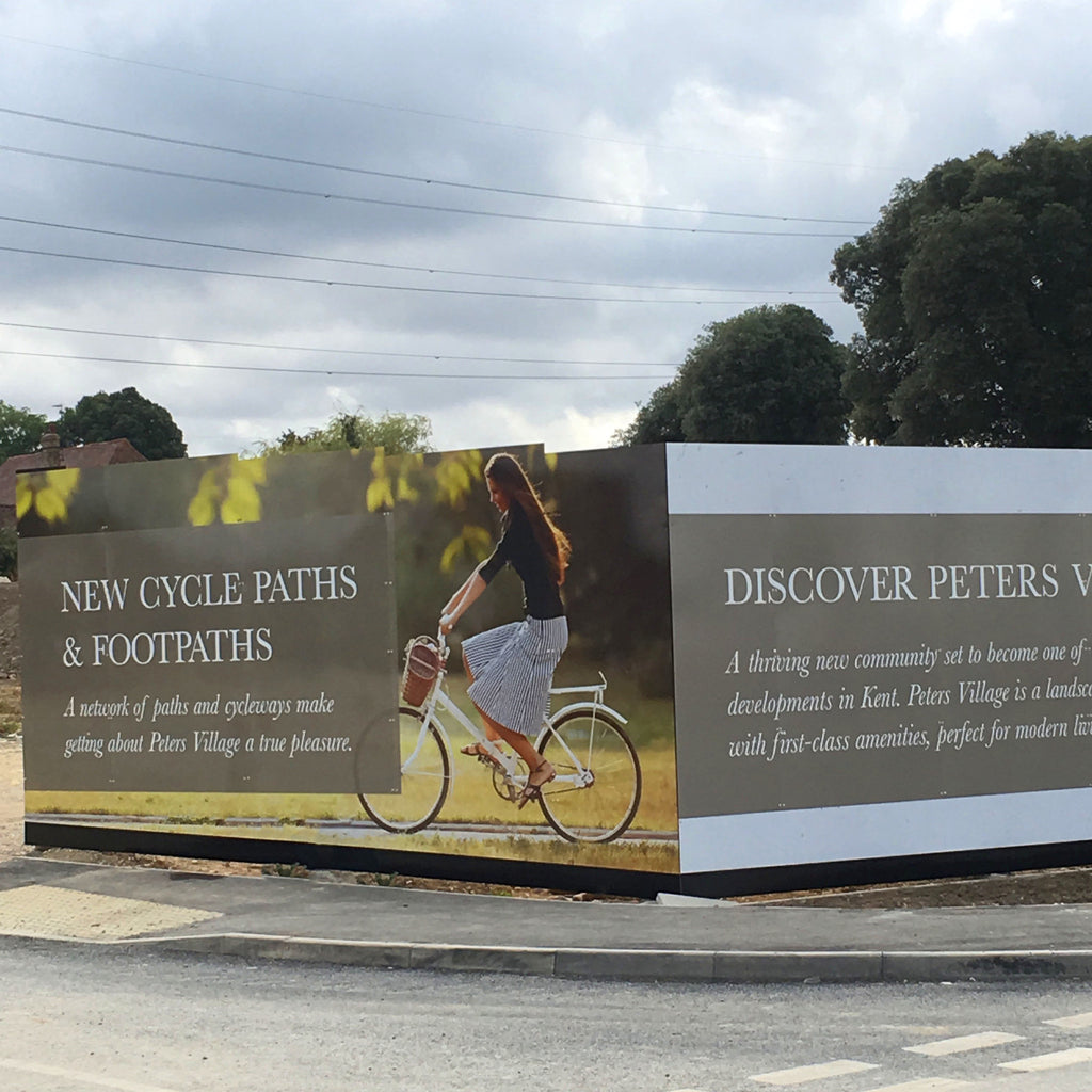 Peters Village advertises cycle paths