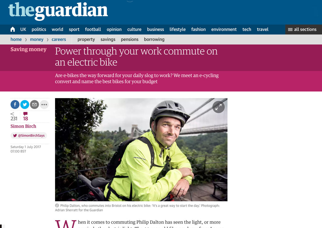 Great reasons to ride an electric bike in The Guardian