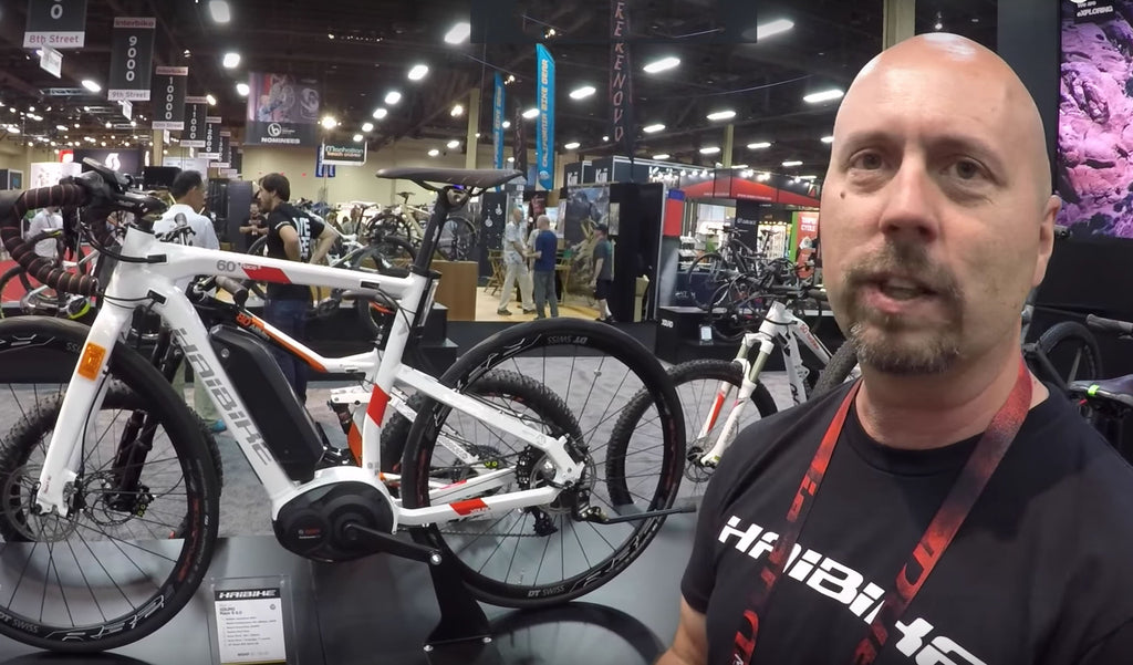 Haibike 2017 electric bike range at the Interbike show
