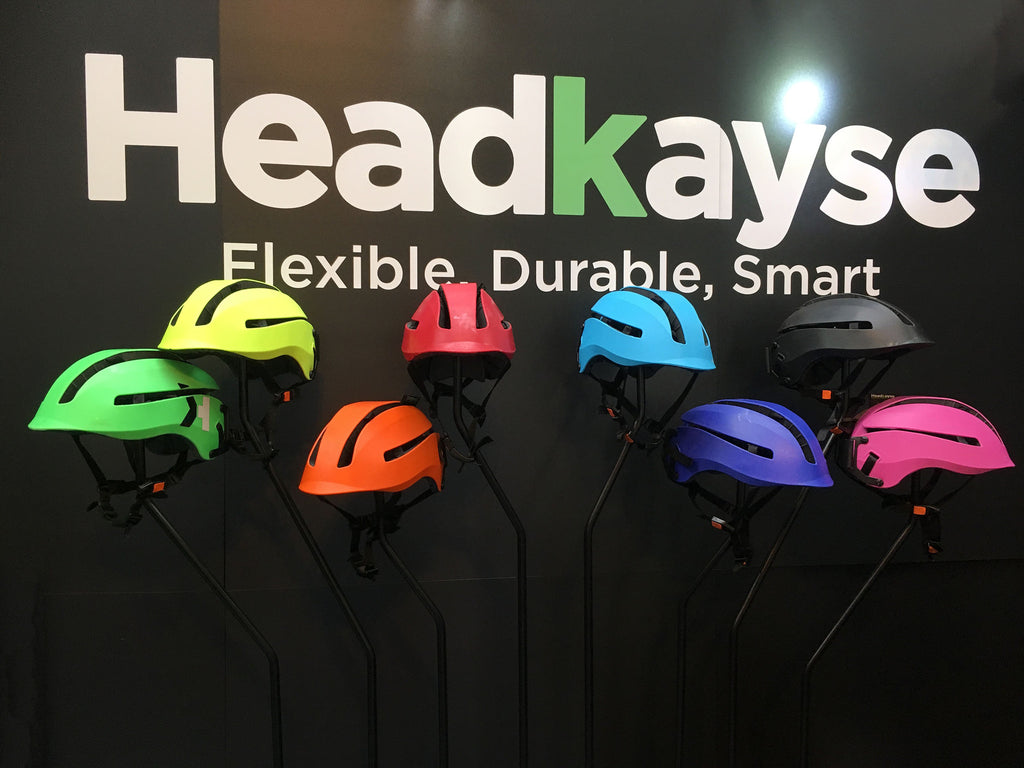 Seen at the Cycle Show 2016 - 01 - Headkayse cycling helmet