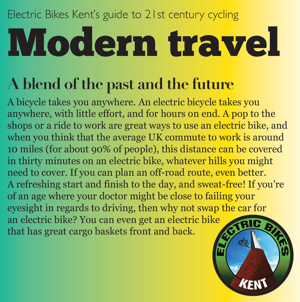 Modern travel - a blend of the past and the future (Number 01 of an occasional series)