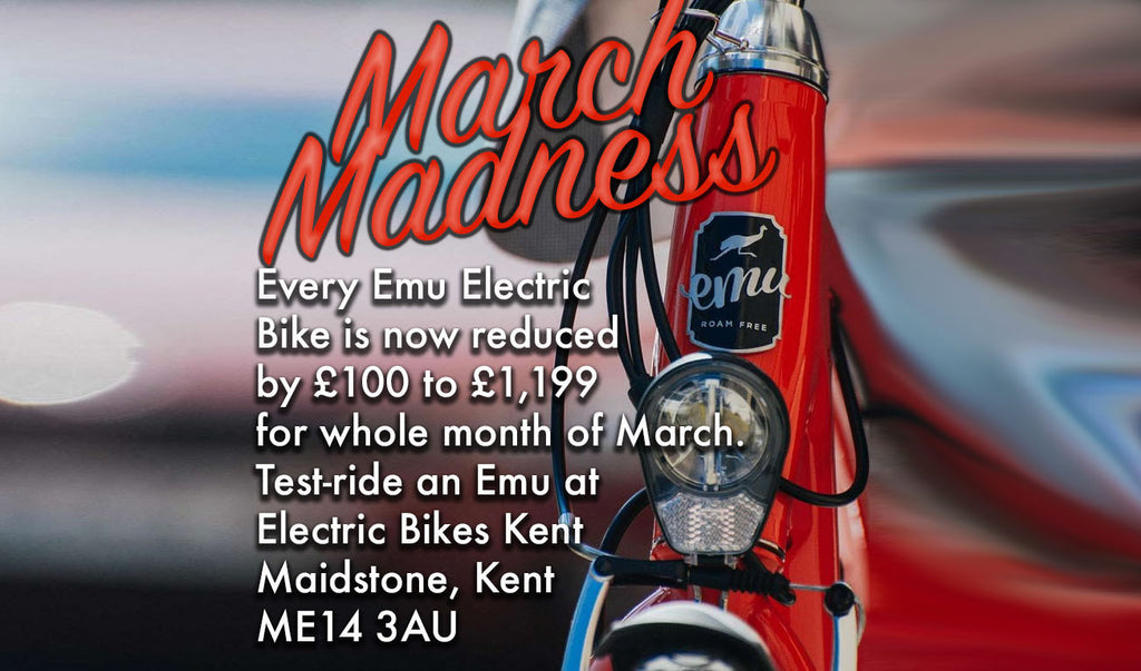 March Madness offer on Emu Electric Bikes