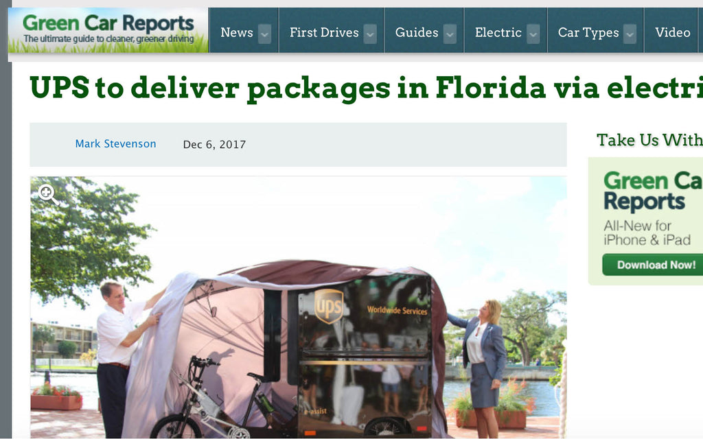 UPS to deliver packages in Florida via electric bikes