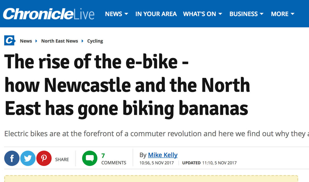 The rise of the e-bike - how Newcastle and the North East has gone biking bananas