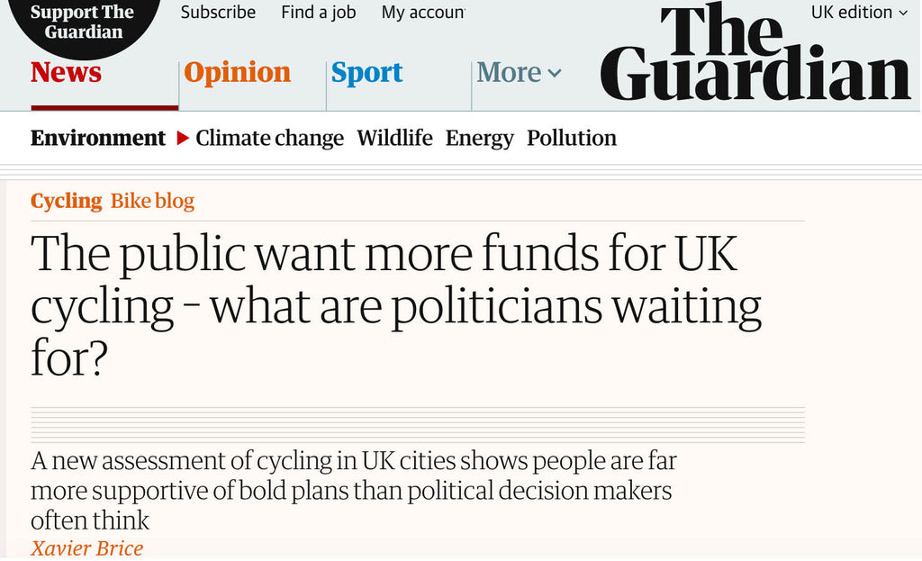 The public want more funds for UK cycling – what are politicians waiting for?