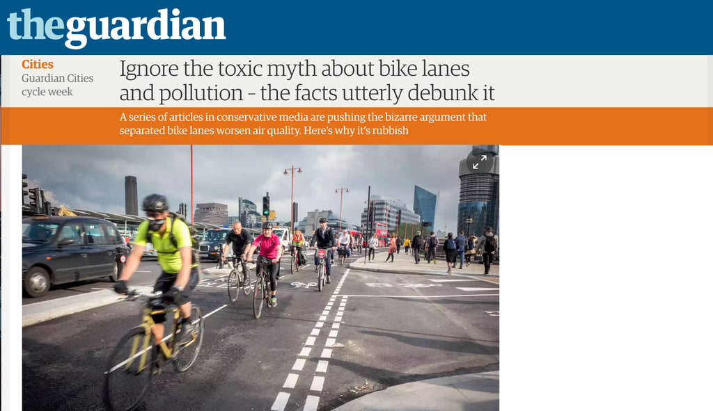 Bike lanes and pollution and all that rubbish