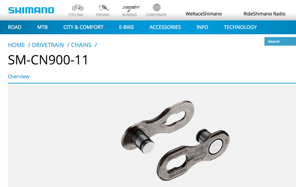 Shimano release a quick-link for your chain