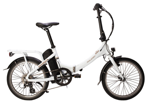 Raleigh Stow-E-Way Folding Electric White