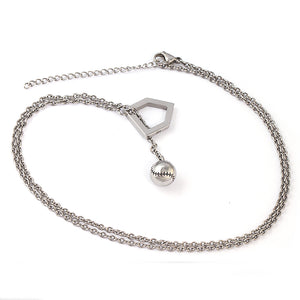 Stainless Ball and Home Plate Y-Type Necklace (FREE SHIPPING)