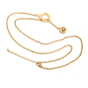 Golden Ball and Home Plate Y-Type Necklace (FREE SHIPPING)