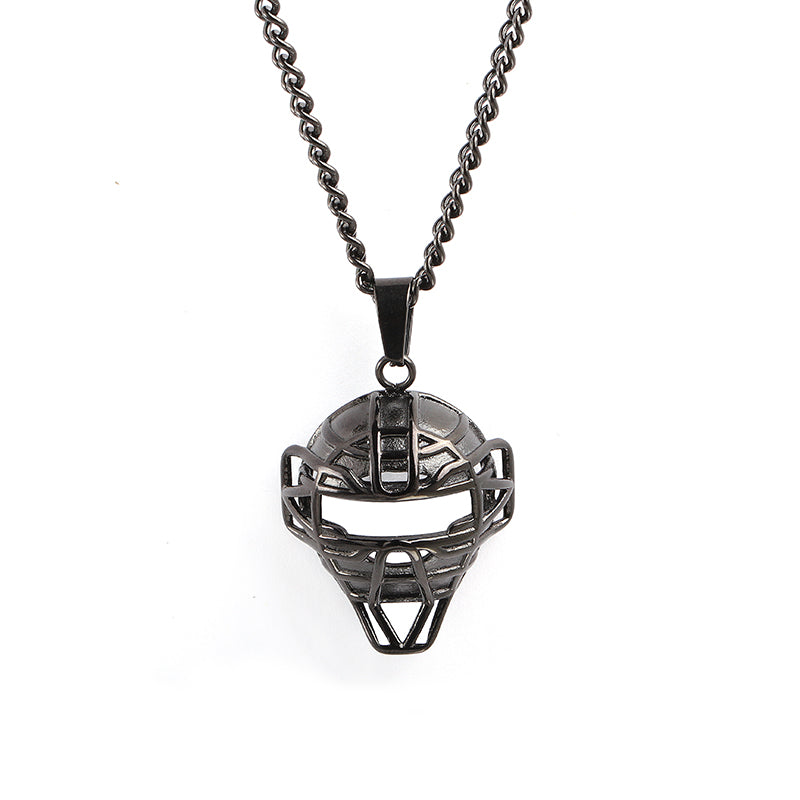 Black O.G. Catcher Mask and Necklace (Free Shipping)