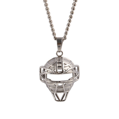 Stainless O.G. Catcher Mask and Necklace (Free Shipping)
