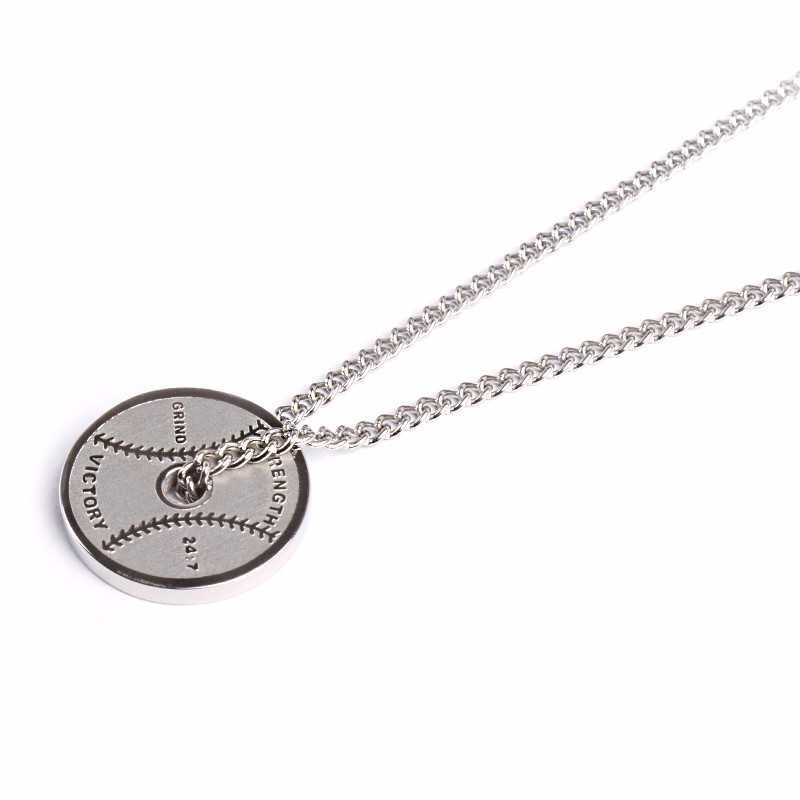 Stainless Weight Plate pendant and chain (FREE SHIPPING)