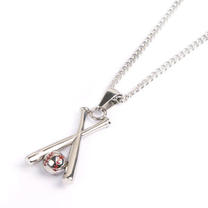 Stainless X-Baseball Bat and Necklace (FREE SHIPPING)