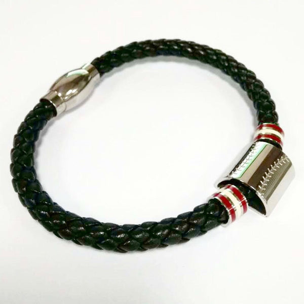 *                          Leather Stainless Baseball Bracelet (FREE SHIPPING)