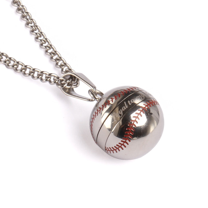 *                                                 (NEW) Stainless Loyal to My Soil Baseball Vile and Necklace (FREE SHIPPING)
