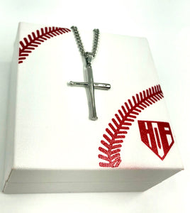 Stainless Mini Bat Cross with Necklace (FREE SHIPPING)