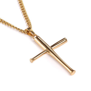 Golden XL Bat Cross with Necklace (FREE SHIPPING)