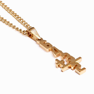Golden Double Play Pendant and Chain (FREE SHIPPING)