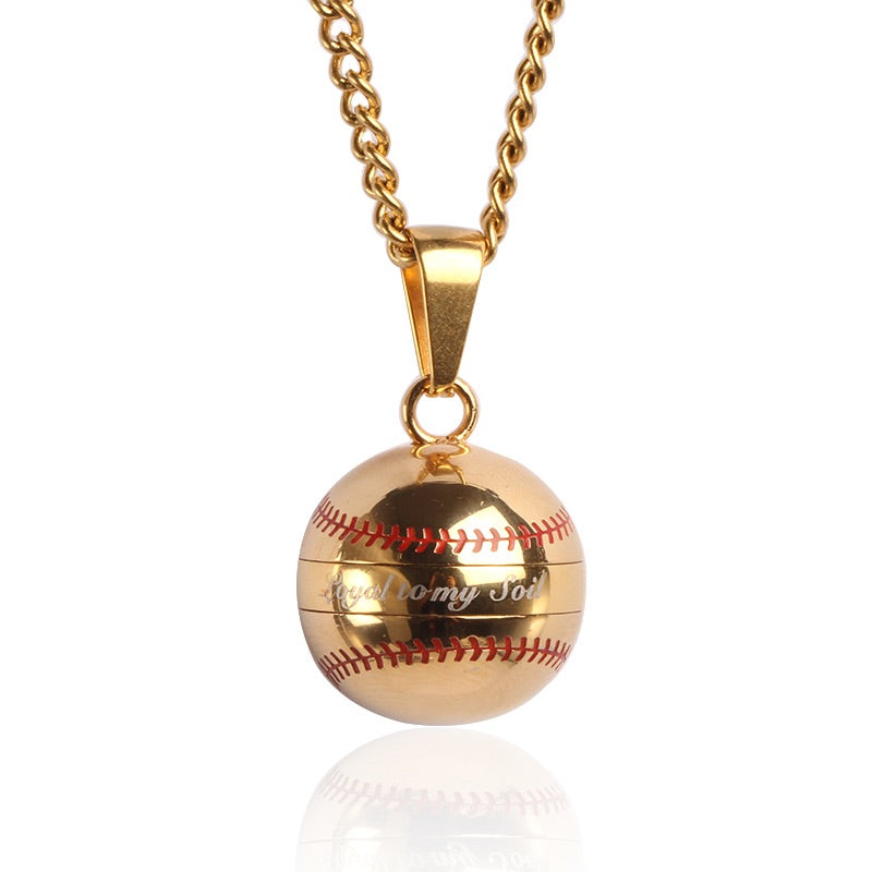 Golden Loyal to My Soil Baseball Vile and Necklace (FREE SHIPPING)