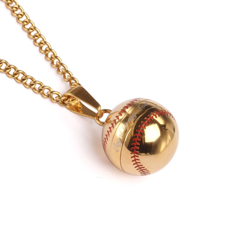 *                                                 (NEW) Golden Loyal to My Soil Baseball Vile and Necklace (FREE SHIPPING)