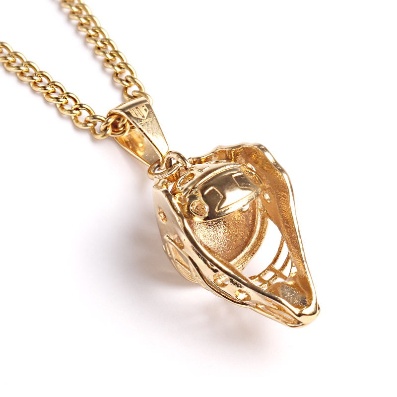 Golden Catcher Mask with Necklace (FREE SHIPPING)