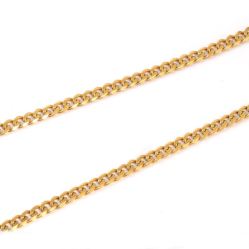 "UPGRADE Golden Necklace (18"", 20"", 22"", 24"")"